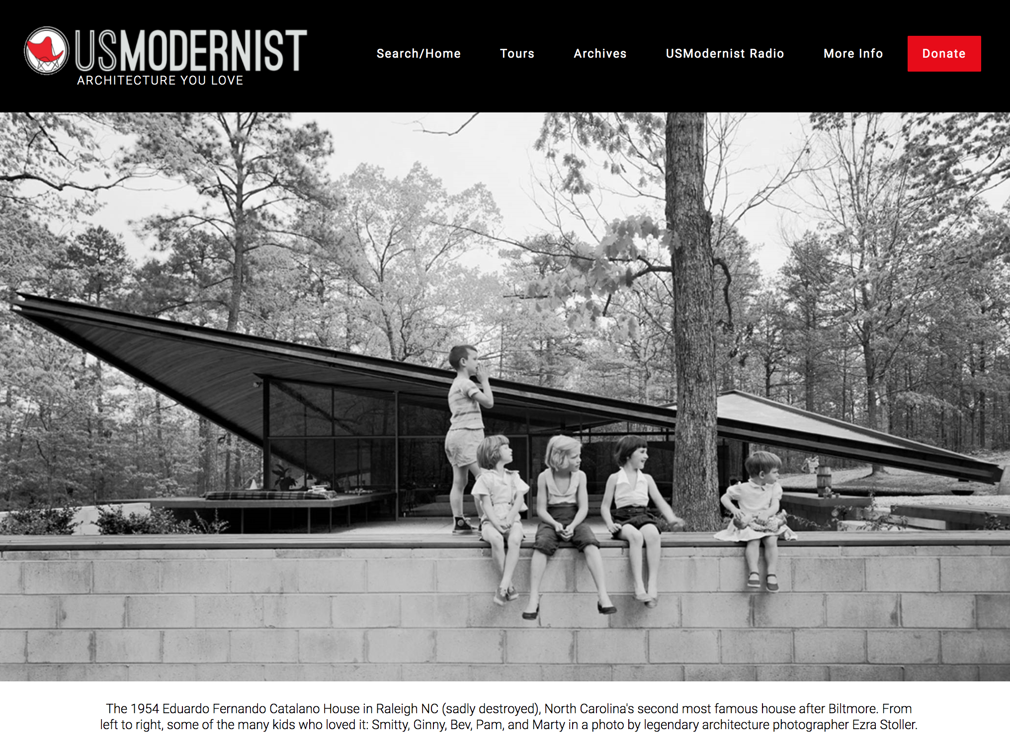 photo of usmodernist home page